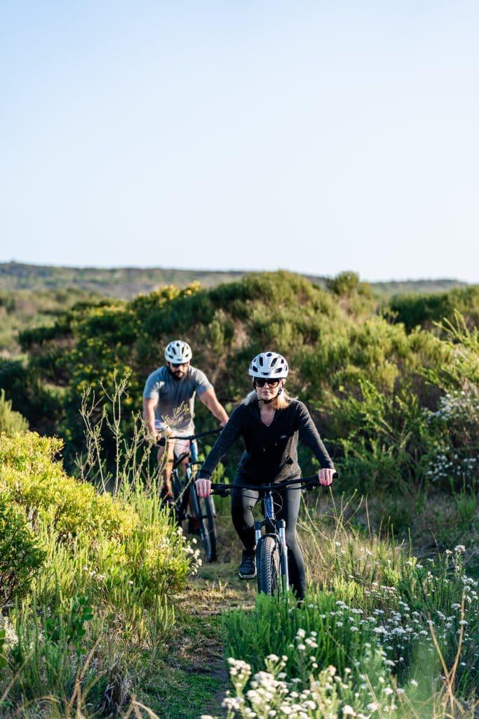 Guests mountain biking at Perivoli Lagoon House