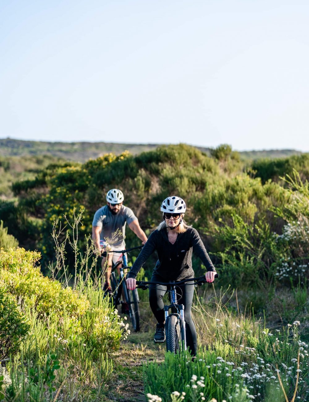 Guests mountain biking at Perivoli Lagoon House